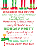Christmas Party Invitation, Editable