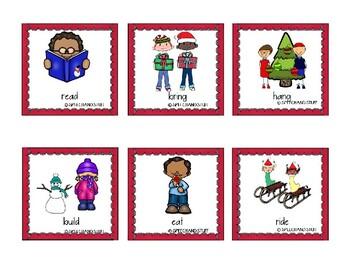 Christmas Irregular Past Tense Verbs Game!