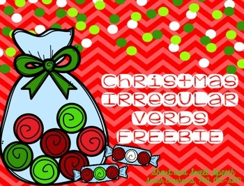 Christmas Irregular Verbs {FREEBIE}