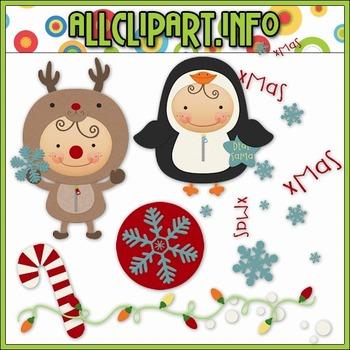 BUNDLED SET - Christmas Is Coming Clip Art & Digital Stamp Bundle