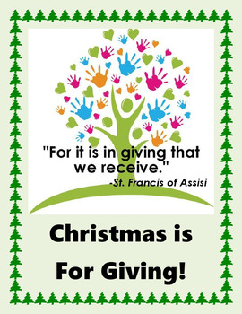 Christmas Is For Giving In Microsoft Word or as a Handout