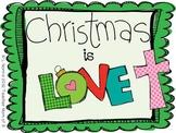 Christmas Is Love Printable Christian Book FREEBIE!