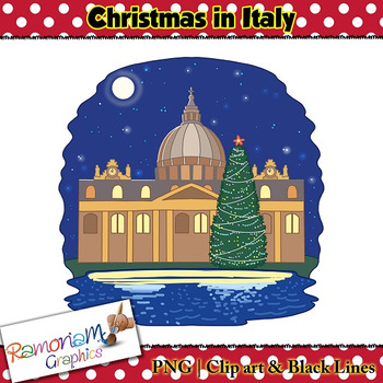 Christmas around the World Clip art Italy