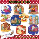 Christmas around the World Clip art Italy