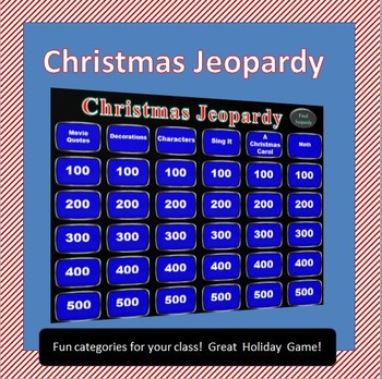 Christmas Jeopardy by Rib-It Resources | Teachers Pay Teachers