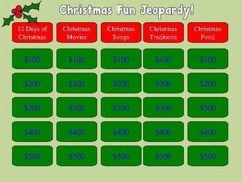 Christmas Jeopardy!  Christmas Trivia for Elementary!