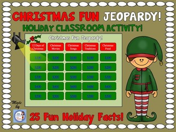 Christmas Jeopardy! Christmas Trivia for Elementary! by JB Creations