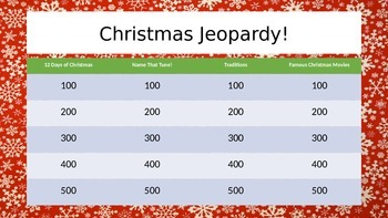 Christmas Jeopardy! Game