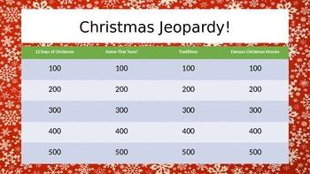 Christmas Jeopardy! Game