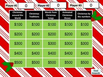 Christmas Jeopardy Game by Mary Kay Erben | Teachers Pay Teachers