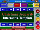 Christmas Jeopardy Interactive Game Template for Holly Jolly fun in all Classes