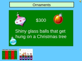 Christmas Speech Jeopardy PowerPoint