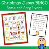 Christmas Jesus Bingo Game & Song Lyrics for Christian Nativity Bible Learning