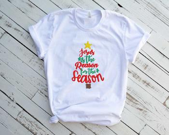 Christmas Jesus Embroidery Design Santa Reason for the Season 241b