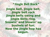 Christmas- Jingle Bell Rock Powerpoint