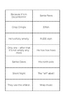 Christmas Jokes Matching