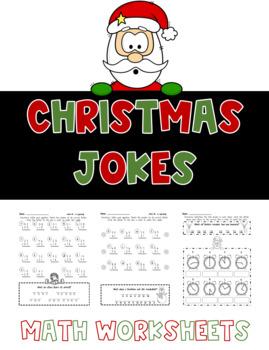 Christmas Jokes - Math Worksheets