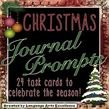 Christmas Journal Prompt Task Cards