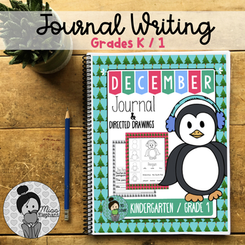 Christmas Journal Prompt with Directed Drawing December Ki