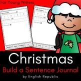 Christmas Journal and Sketchbook for Beginner Writers - No Prep!