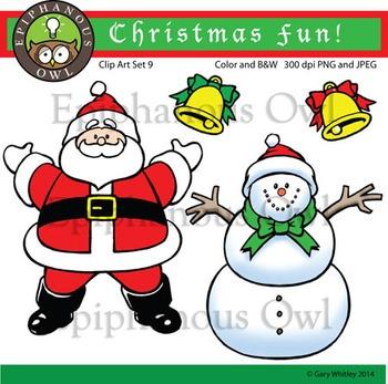 Christmas Joy Clip Art Set 9