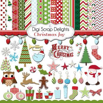 Christmas Joy Clip art & Papers