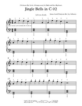 Christmas Joy Series: Jingle Bells arr. for adult and teen beginners.