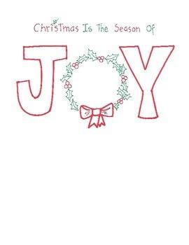 Christmas Joy and Decorate a Christmas Tree Printables