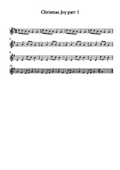 Christmas Joy for elementary recorder ensemble