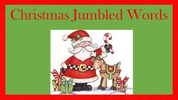 Christmas Jumbled Words Activity