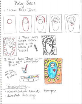 Christmas K-2 Art Lessons Bundle - Easy to Teach Complete Printable instructions