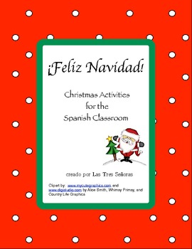 Christmas K-3 Spanish Activities/ Navidad