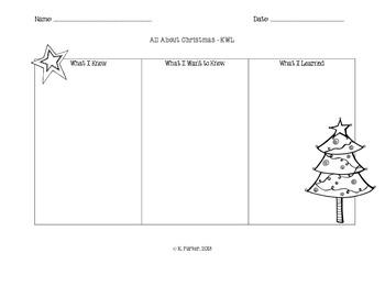 Christmas KWL Chart
