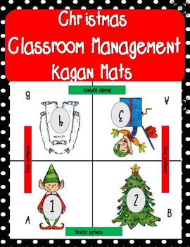 Christmas Classroom Management Kagan Mat for Cooperative Learning