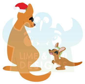 Christmas Kangaroos Clipart (Lime and Kiwi Designs) by ...