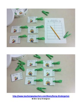 Christmas Kids Addition Math Centers (Sums of 0 to 10)