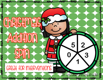 Christmas Kids Addition Spinners