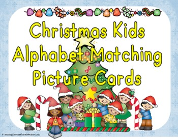 Christmas Kids Alphabet Picture Matching Cards