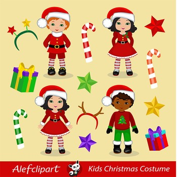 Christmas Kids / Children - Digital Clipart, Christmas clipart