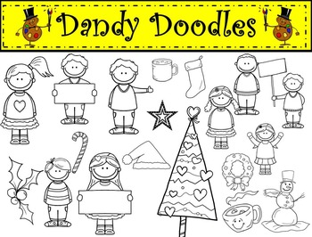 Christmas Kids Clip Art by Dandy Doodles