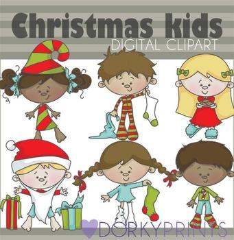 Christmas Kids Digital Clip Art - Christmas Clip Art