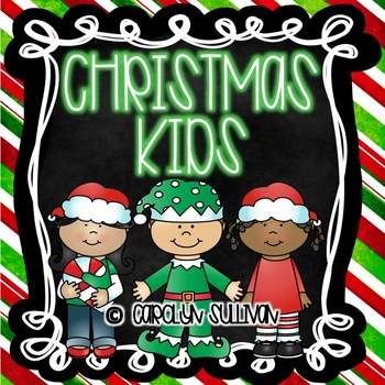 Christmas Kids- Math and Literacy: Common Core Standards Included!