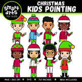 Christmas Kids Pointing Clipart