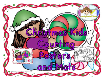 Christmas Kids Posters and Number Mats