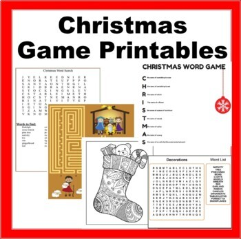 Christmas Kids Printables- Printable Games, Coloring Sheets, Dear Santa Letters