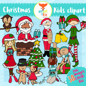 Christmass kids. Christmas winter clipart personal