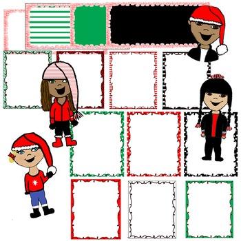 Christmas Kids and Frame Set