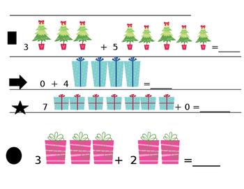 Christmas Kindergarten Addition Facts