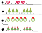 Christmas Kindergarten Addition Facts