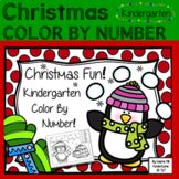 Christmas Color By Number - Kindergarten